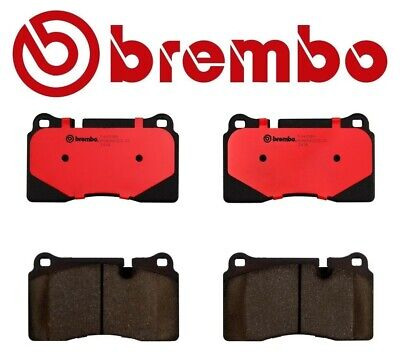 Brembo Front Premium NAO Ceramic Slotted Brake Pad Set For Range Rover Sport