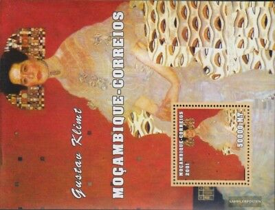 Africa Never Hinged 2001 Art Crease-Resistance Frugal Mosambik Block99 Unmounted Mint