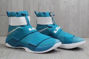 925ee4b2136 New Mens Nike Lebron Soldier X 10 Teal 856489-332 Basketball Shoes ...