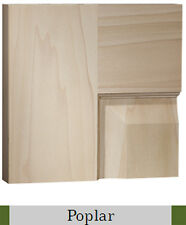 3 Panel Flat Poplar Shaker / Mission Stain Grade Solid Core Interior Wood  Doors