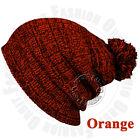 Pom Pom Knit Men's Women's Baggy Beanie Winter Hat Ski Slouchy Warm Cap Skull