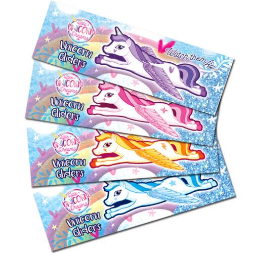Unicorn volanti Vele Ragazze Giocattoli PREMIO PASQUA Favore Festa Di Compleanno Borsa Filler