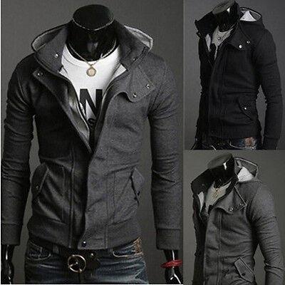 Men Clothing Casual Slim Fit Zip Designed Coats Jacket Sweater Coat Hoodie Tops