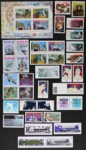 CANADA-Postage-Stamps-1986-Complete-Year-set-collection-Mint-NH-See-scans