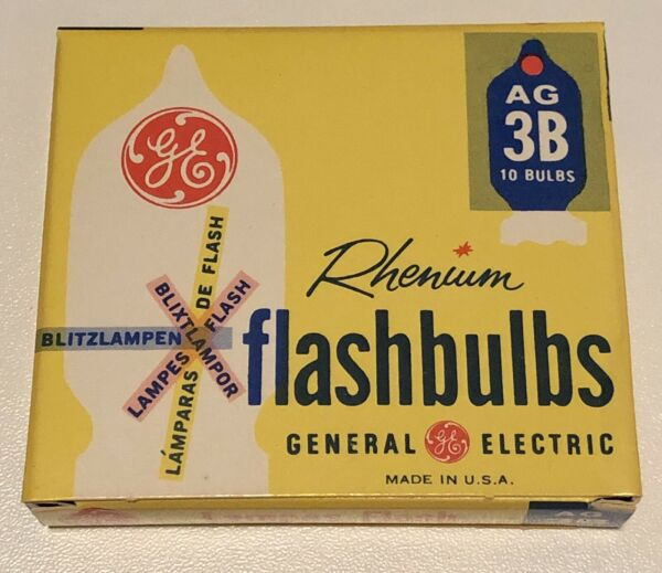 General Electric Flash Bulbs AG-3B 10 In Each Box Brand New