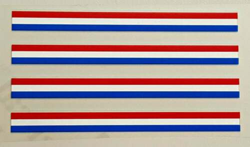 Set of 4 - Red//White//Blue Colored Bands // Stripes sku Stri952 Small
