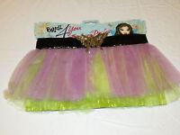 Girls Bratz For You Fashion Pixiez Skirt 350729 Ages 4+ Purple Yellow Tutu