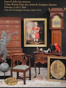 James Julia Fine Art Antiques Winter Session Auction Catalog February 2016 Ebay