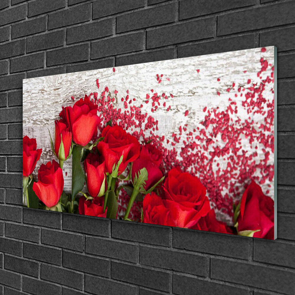 Print on Glass Wall art 100x50 Picture Image Rosas Floral Floral Floral 25aee2