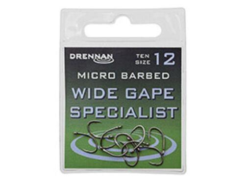 Drennan Wide Gape Specialist Micro Barbed Hooks