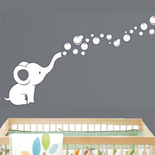 Elephant Bubbles Baby Wall Decal Vinyl Wall Nursery Room Decor EB3