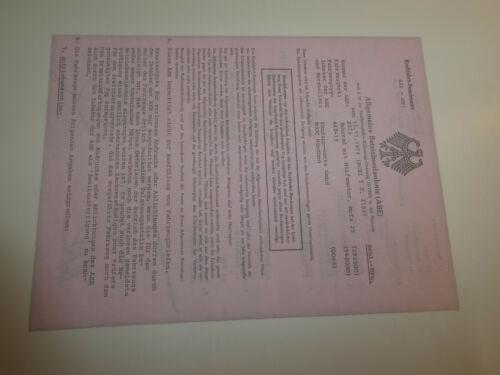 Zündapp ABE Einlegeplatt f Zündapp Mofa Datenblatt Betriebserlaubnis Papiere