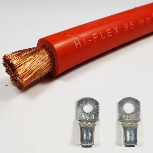 Batería 95mm2 rojo Cable de soldadura 500 amperios un libre de PVC flexible del estirón Por Metro