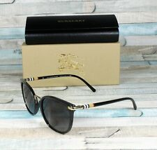 386937f6eff0 Burberry Sunglasses Black Cateye Be 4251q 3001 8g Gradient Gray Lens ...