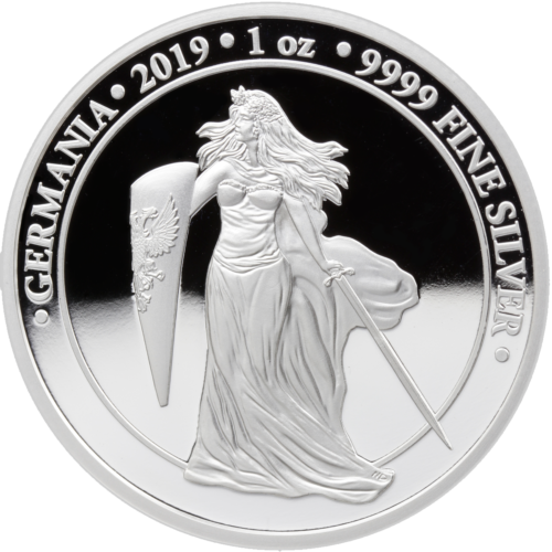 5 Mark Silver Proof Germania 1 Unze oz Silber Silver PP 2019