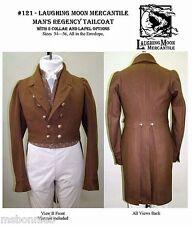 Mens Regency era Tailcoat sizes 34-56 Laughing Moon Costume Sewing Pattern 121