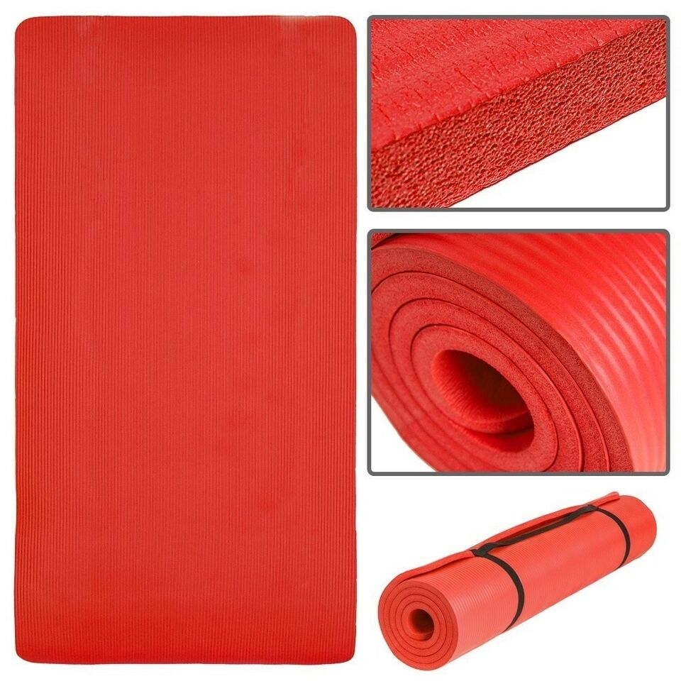 Andet, Yogamåtte 185 x 80 x 1,5 cm rød
