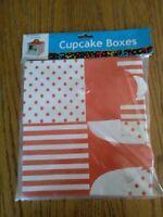 (829) 6 Cupcake Boxes - 4x4x4