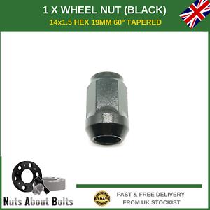 2008-16 1 x Black Wheel Nut M14X1.5 For Vauxhall Insignia