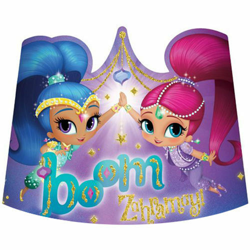 SHIMMER and SHINE Genies Paper Tiaras Birthday Party Supplies Favors Hats Crowns