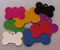 Dog Id Tags - Large Bone Tag - Lot Of 10 With 2 Sided Engraving - Shelter/rescue