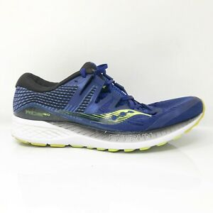 Saucony Mens Ride ISO S20444-4 Blue Running Shoes Lace Up Low Top Size 11.5