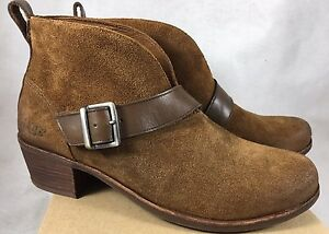 3f380a364a8 Details about UGG Australia Women's Wright Belted Booties Pull-On Boot  Shoes 1014184 Chestnut
