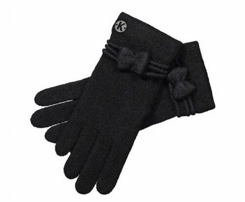 Kunert warm Handschuhe Damen weich Strickhandschuhe Wolle mit Schleife