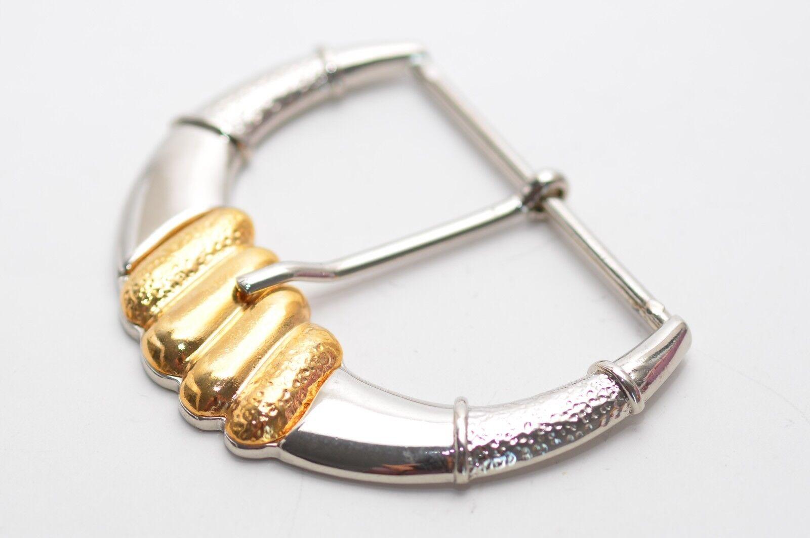 Adorno en la cintura hebilla para aprox. 60 mm de ancho, oro-plata, edad media, caballero