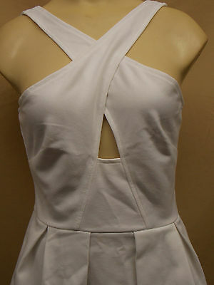 Victorias Secret~Sexy~Ponte~Cross-Over~Pleated~Top~Blouse~Small~White