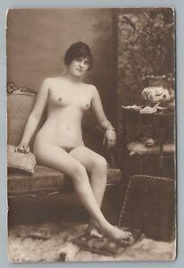 Nude girl smoking