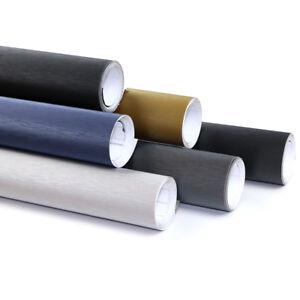 Brushed-Aluminium-Vinyl-Car-Wrap-Auto-Decal-Gadget-Colours-Sizes-Air-Bubble-Free