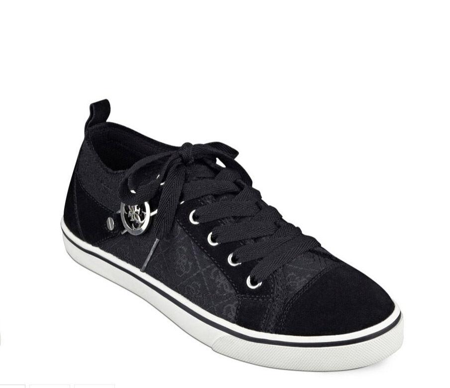 NIB GUESS Maadet Sneakers Logo print  blanc noir  US 8.5, EU 39