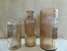 Windlicht Glas Flasche Metallhalter für Teelicht Partylicht zum Selbstgestalten