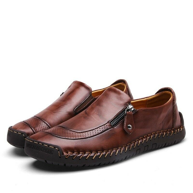 Plus size38-48 Mens Vintage Casual Driving shoes Breathable FLats Loafers shoes