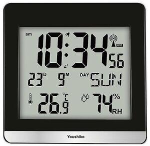 Jumbo LCD Radio Controlled MSF Digital Wall Clock UK Ireland