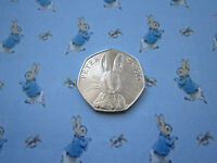 2016 Peter Rabbit uncirculated 50p fifty pence coin Rare Beatrix Potter New
