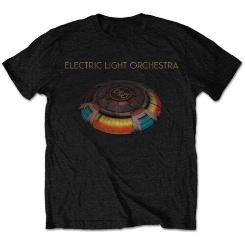 ELO T-Shirt Electric Light Orchestra Jeff Lynee /' Bleu Ciel /' Noir