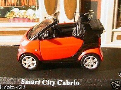 SMART CITY CABRIOLET ROUGE /& NOIRE 1//43 BLACK /& RED FORTWO W450 DELPRADO