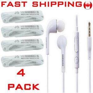 Earphones-in-ear-Earbud-Headphone-Ecouteurs-Mic-iPhone-SAMSUNG-S5-S9-LG-4-Pack