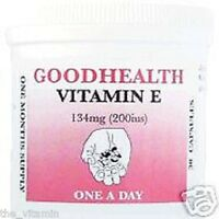 VITAMIN E (200ius) Capsules (6 Months supply) FREE P&P