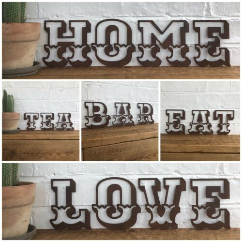 """F CARNIVAL FONT 5/"""" RUSTY METAL LETTER HOUSE SHOP HOME VINTAGE RETRO SIGN RUSTIC"""