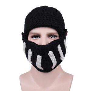 0732db832e7 New Roman Knight Knit Hat Winter Gladiator Mouth Mask Cap Beanie Hat ...