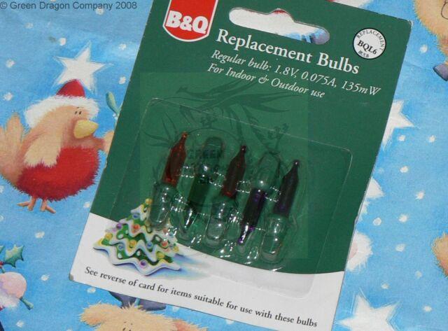 Replacement Christmas Light Bulbs. B&Q BQL6 1.8v 0.075a 135mw Colour ...