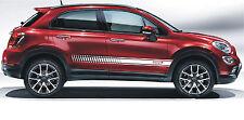 FIAT 500x 500 x strisce logo QUALSIASI COLORE-si prega di chiedere Decalcomanie Adesivi Grafico
