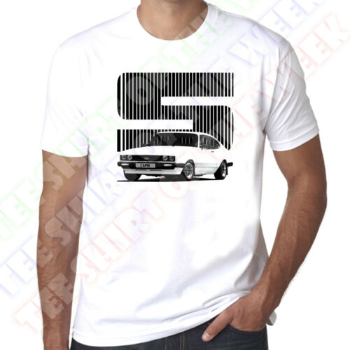 Personalised Plate Option Ford Capri 2.0 3.0 1.6 S Mens White T-shirt