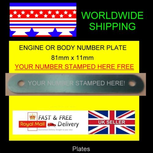 STAMPED FOR YOU MINI AUSTIN MORRIS 1000 BMC LEYLAND ALL-BLANK-VIN-CHASSIS-PLATES