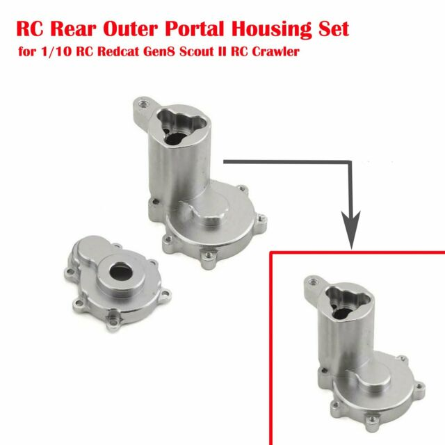 For 1/10 RC Redcat Gen8 Scout II RC Crawler RC Rear Outer Portal Housing Set