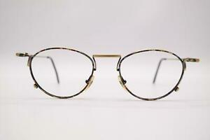 Vintage-Romolo-Cianci-375-Messing-Mehrfarbig-oval-Brille-Brillengestell