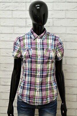 Camicia Tommy Hilfiger Donna Taglia Size S Maglia Shirt Woman Cotone Quadri Slim